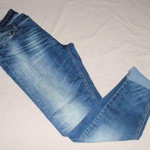 Indigo Rein Ankle Distressed Jeans Sz 17 Juniors